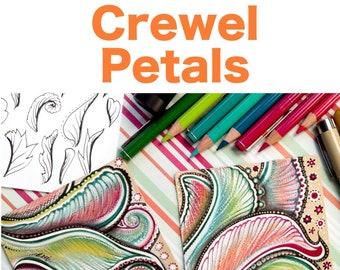 """Crewel Petals """"Video to Ebook"""" - Download PDF Tutorial Ebook"""