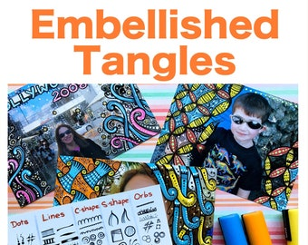 """Embellished Tangles """"Video to Ebook"""" - Download PDF Tutorial Ebook"""