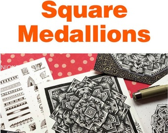 """Square Medallions """"Video to Ebook"""" - Download PDF Tutorial Ebook"""