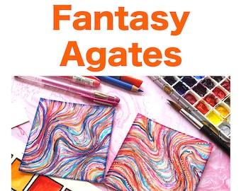 """Fantasy Agates """"Video to Ebook"""" - Download PDF Tutorial Ebook"""