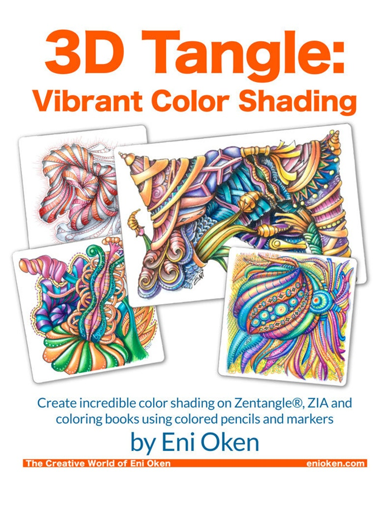 3D Tangle Vibrant Color Shading  Download PDF Tutorial Ebook image 0