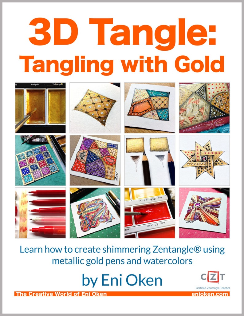 3D Tangle Tangling with Gold  Download PDF Tutorial Ebook image 0