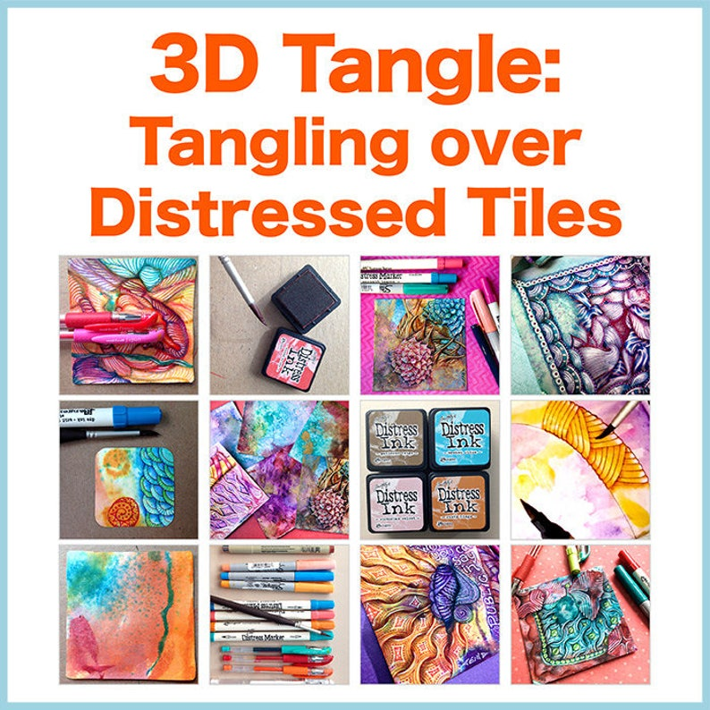 3D Tangle Tangling over Distressed Tiles  Download PDF image 0