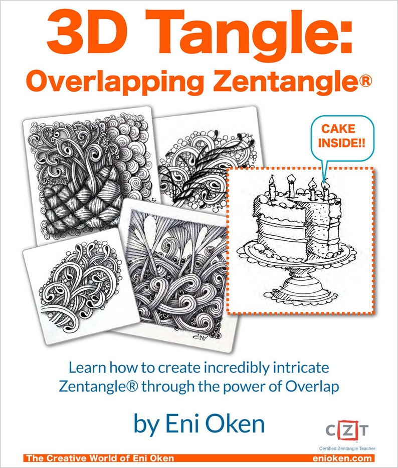 dc58f3a9217 3D Tangle Overlapping Zentangle® Download PDF Tutorial Ebook