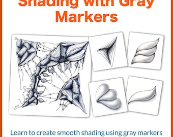 3D Tangle Shading with Gray Markers - Download PDF Tutorial Ebook