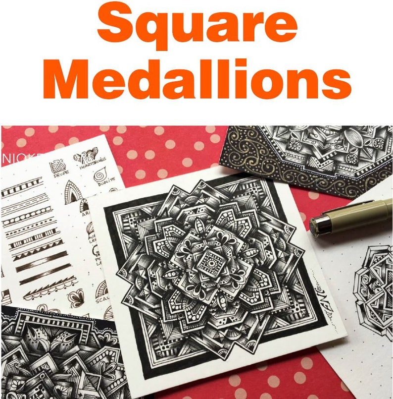 Square Medallions Video to Ebook  Download PDF image 0
