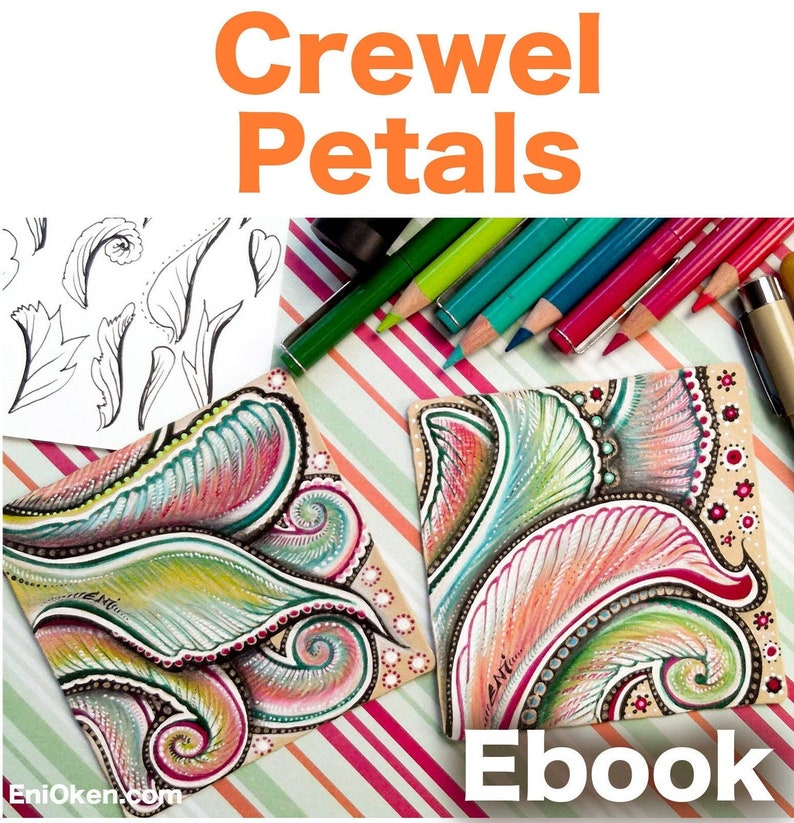 Crewel Petals Video to Ebook  Download PDF image 1