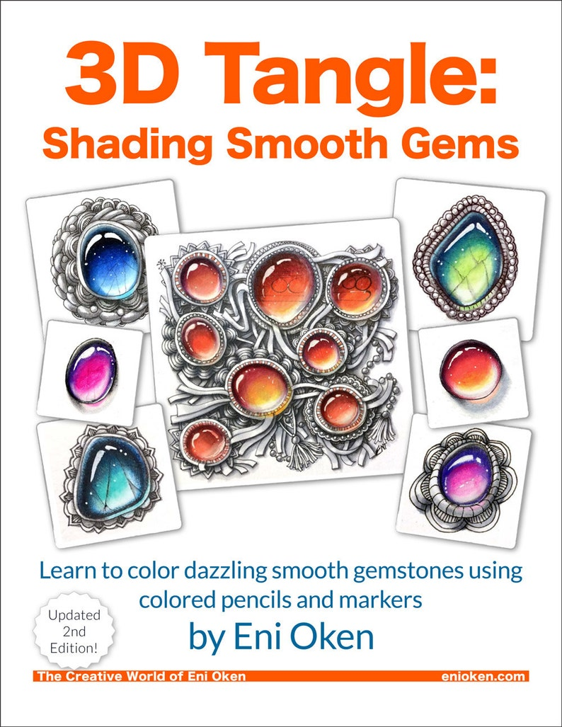 3D Tangle Shading Smooth Gems  2nd Edition  Download PDF image 0