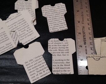 10 pcs. Mini Library Pockets, for Junk Journals