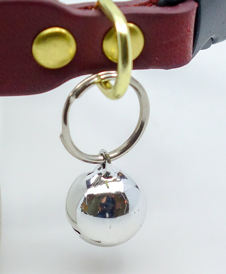 Cat bell upgrade for cat collars is one half inch round with ready to attach ring Jingle cat bell