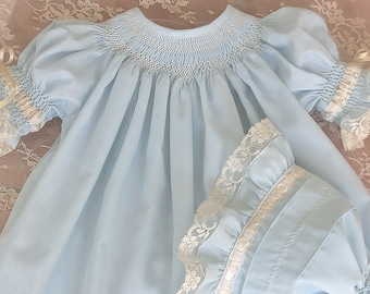 685fb754899e9 Day Gown Smocked Blue PR NB Smocking Gowns