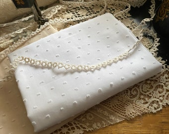 Gorgeous 100 percent cotton Swiss Dot Fabric White Heirloom Vintage Clothing  Sold by Half Yard