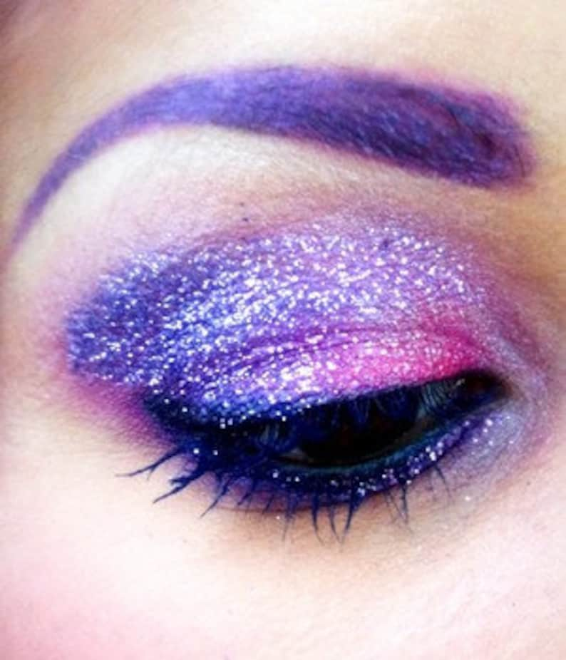 Purple Iridescent Glitter Makeup Eyes Lips Face Nails Etsy