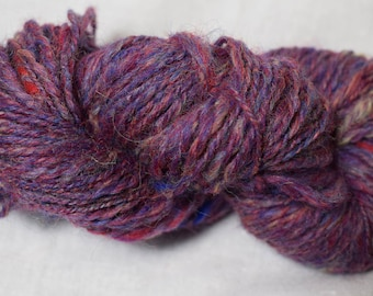 Red with Speckles Handspun Yarn