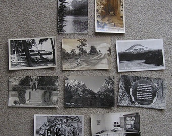 10 Real Photo Postcards, Fair to Very Good Condition, 1940s-50s