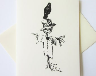 Scarecrow Note Cards Set of 10 with Matching Envelopes