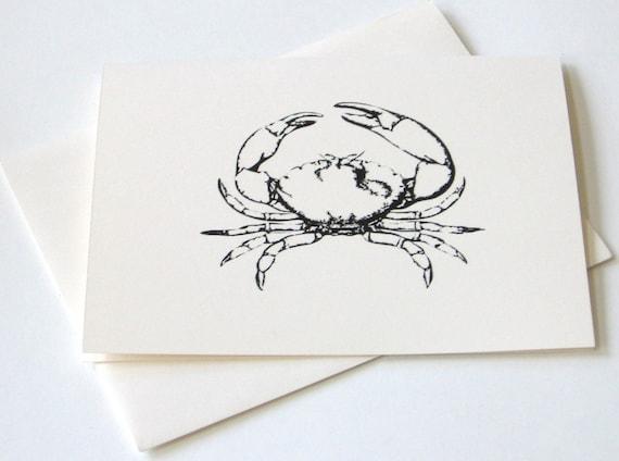 Crab Notecard Set of 10