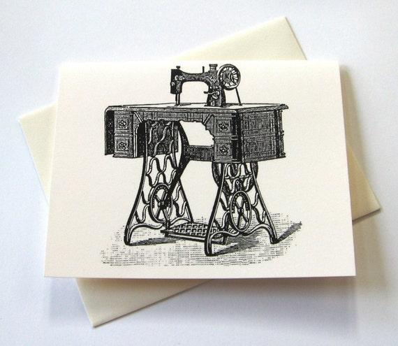 Vintage Sewing Machine Notecards