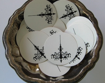 Chandelier Tags Round Gift Tags Set of 10