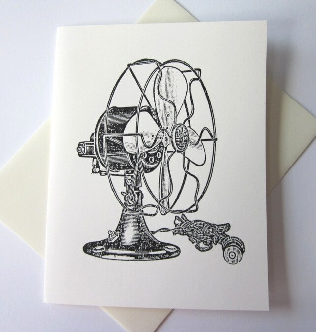 Vintage Fan Note Cards Stationery Set of 10 Cards (B)