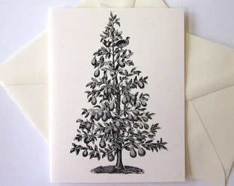 Partridge in a Pear Tree Note Cards Set of 10 with Matching Envelopes