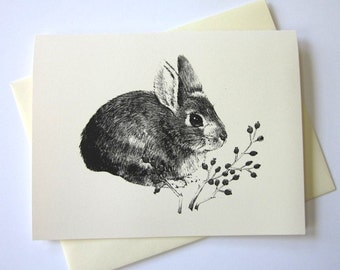 Little Rabbit Bunny Stationery Note Cards Set of 10 with Matching Envelopes