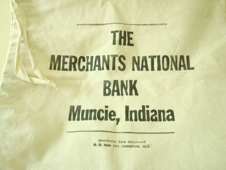 Deposit Bags Learned Vtg Canvas Deposit Bag Central Money Processing National State Bank Elizabeth Nj Banking & Insurance