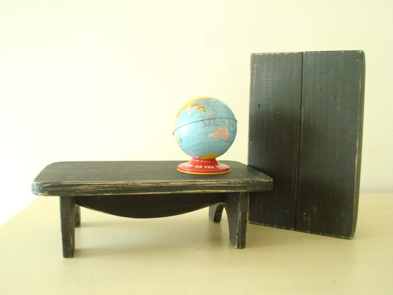 Swell 1 Black Wood Table Riser Handmade Table Bench Use To Elevate Laptop Screen Or Kitchen Condiments Reclaimed Wood Distressed Finish Pdpeps Interior Chair Design Pdpepsorg