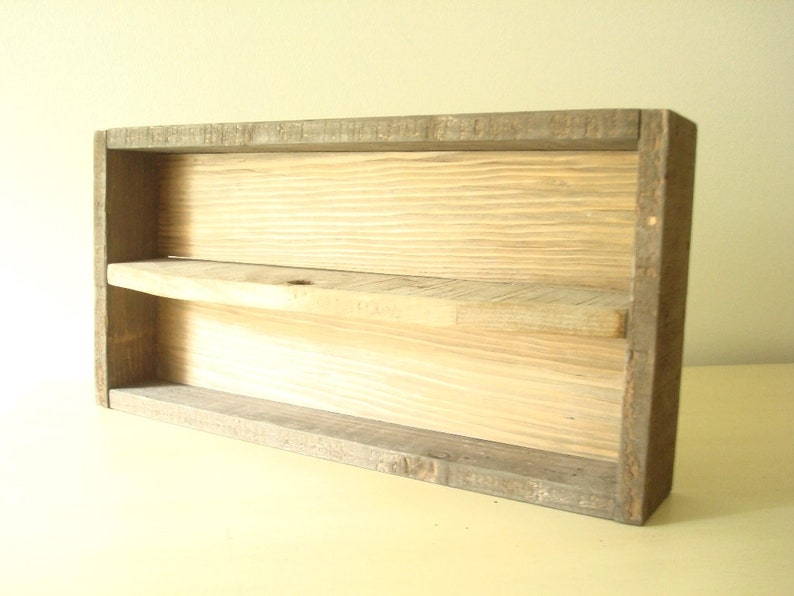 rustic taupe-grey garden or household tote Reclaimed wood tote handmade supply tote with cottage farmhouse style