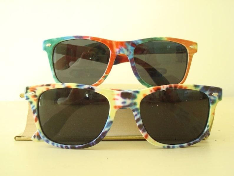 8e3f7e8b23cb Vintage sunglasses rainbow tie-dye glasses multicolor unisex | Etsy