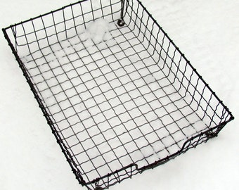 B2 Vintage Industrial Wire In / Out Basket  - Retro Fun