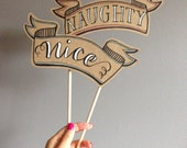 Handmade Naughty & Nice Photo Prop Set