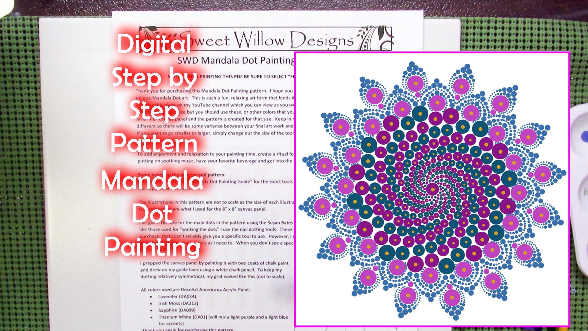 Digital Mandala Dot Painting 006 Pattern 10 X Etsy