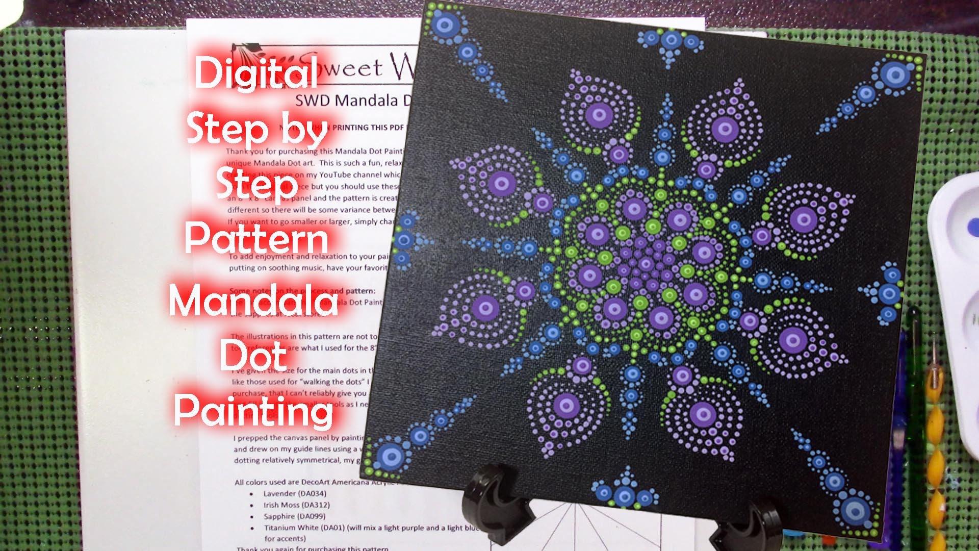 Digital Mandala Dot Painting 003 Pattern 8 X 8 Etsy
