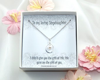 Step Daughter Necklace,Step Daughter Gift,Necklace for Step Daughter,Step Daughter Wedding Gift,Step Daughter Birthday Gift