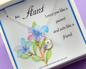 Aunt Necklace, Aunt Gift,  Auntie Necklace, Auntie gift, Aunty Necklace, Aunty gift, Aunt Jewelry, Gift Boxed Necklace For Aunt