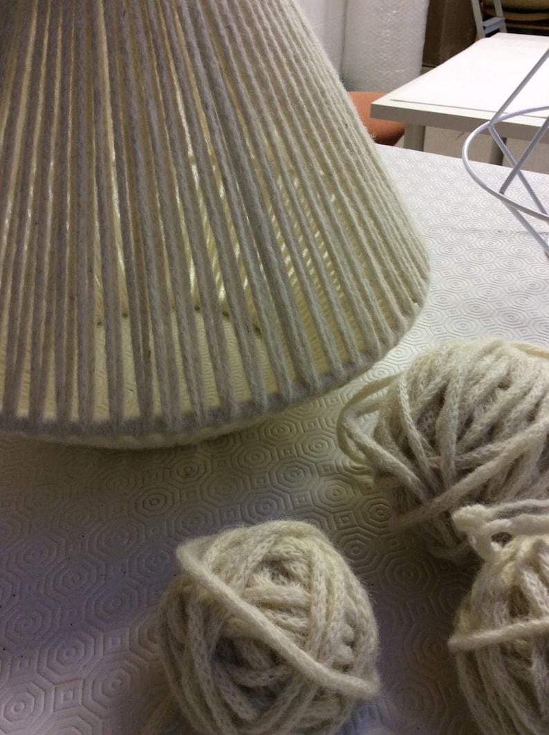 XS Geometric Aqua Strand dip dye British wool