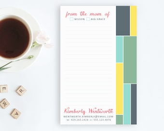 Personalized Notepad for Mom, From the Mom of Notepad, Mom Notepads, Customized Note Pads, Colorful Stationery, Gifts for Mom, Teacher Gifts