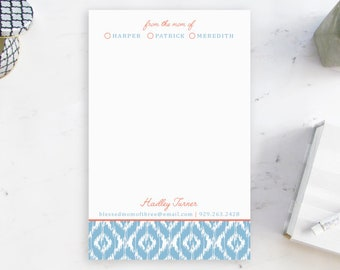 Stylish Notepad for Mom, From the Mom of Notepad, Personalized Notepads, Custom Stationery for Mom, Note pad for Mother, Gifts for Mom