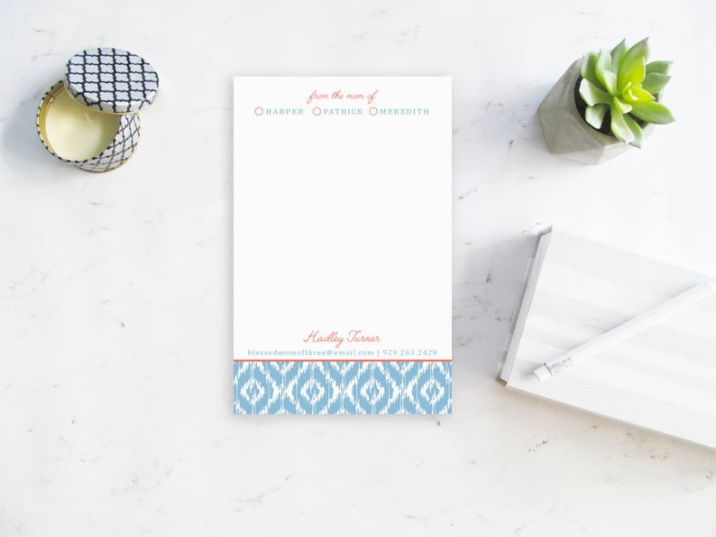 Stylish Notepad for Mom From the Mom of Notepad Personalized image 0