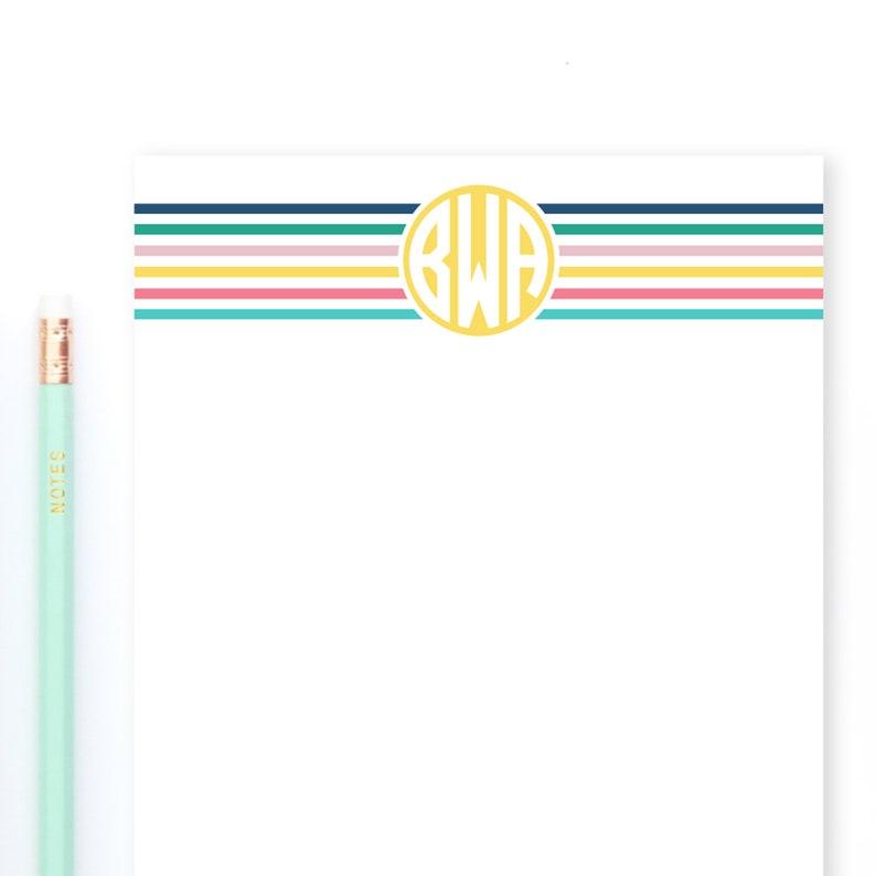 Large Personalized Notepad with Circle Monogram Custom image 0