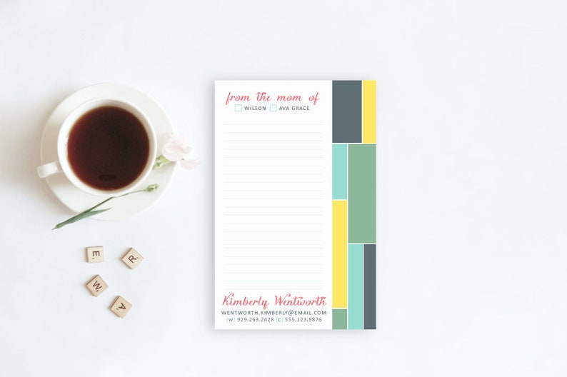 Personalized Notepad for Mom From the Mom of Notepad Mom image 0