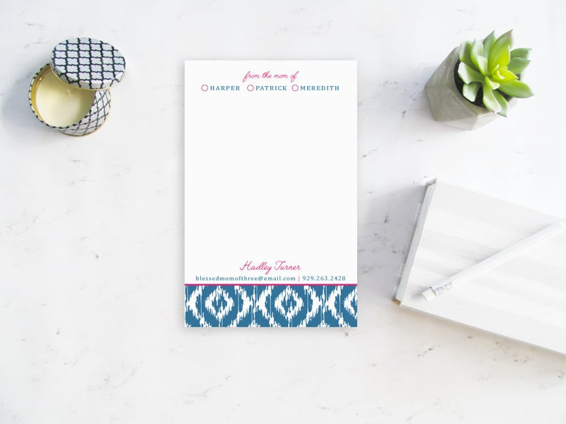 Stylish Mom Notepad Personalized Notepad for Mom From the image 0