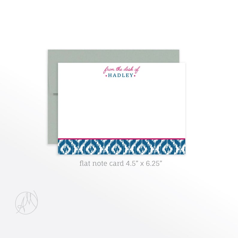 Personalized Note Cards for Her Personalized Stationery Flat image 0