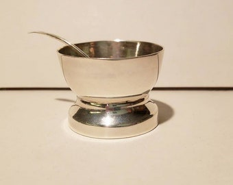 William Spratling Sterling Silver Handwrought Salt Cellar /& Spoon Taxco