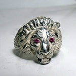Lion Ring in Sterling Silver RF553