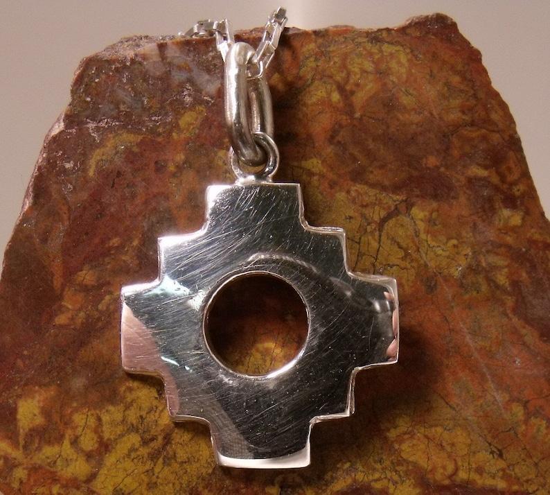 Native American Symbol Sterling Silver Pendant RF034 image 0