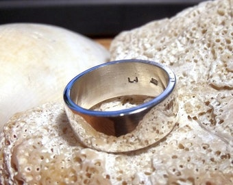7 mm Wide Sterling Silver Band RF418