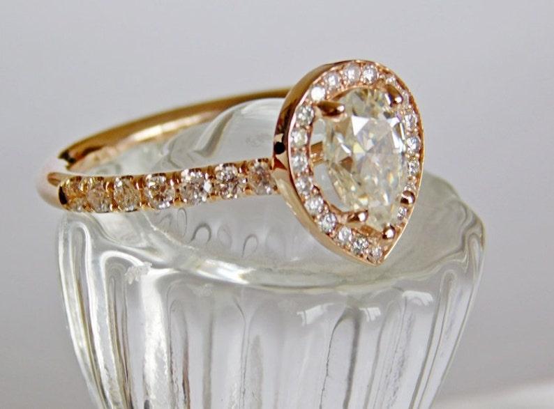 Engagement Ring  Rose Gold   35 Round Brilliant Diamonds image 0