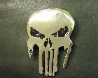 Belt Buckle Sterling Silver Skull RF563